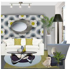 """Modern Retro Living Room"" by meggiechelle on Polyvore"