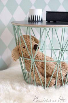 Korbtisch ferm living - wire basket