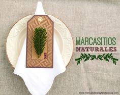 #Marcasitios para #Navidad / #Christmas place markers www.manualidadesytendencias.com