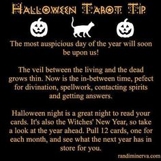 """Halloween Tarot Tip - Awe <3 Have never thought of that :"""">"""