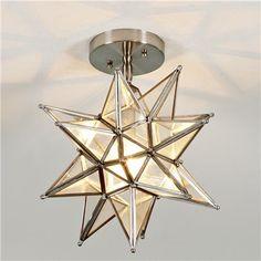 Powder room | Moravian Star Ceiling Light $189
