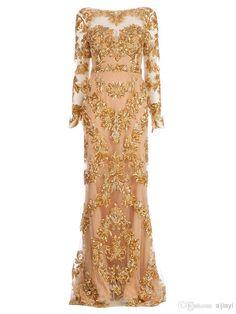 vestidos con encaje dorado - Buscar con Google