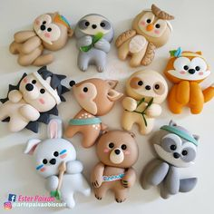 Image gallery – Page 262616222008867830 – Artofit Polymer Clay Kawaii, Fimo Clay, Polymer Clay Charms, Polymer Clay Creations, Polymer Clay Figures, Polymer Clay Animals, Clay Projects, Clay Crafts, Fondant Animals