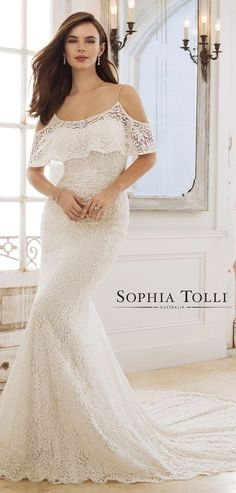 Sophia Tolli Wedding Dress Spring 2018 #wedding #weddingideas #weddings #weddingdresses #weddingdress #bridaldress #bridaldresses