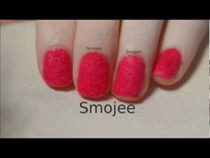 For this Tutorial you don't need expensive 'Flocking Powder'. I show you how to create your own Velvet Naildesign with things you have at home :) Enjoy my tu. Velvet Nails, Flocking, Nail Designs, Powder, Nail Art, My Love, Crafts, Diy, Nail Desings