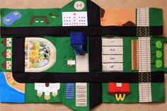 Stash and Carry Felt Play Mat - Things for Boys