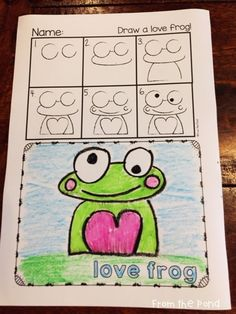 Love Frog Directed Drawing