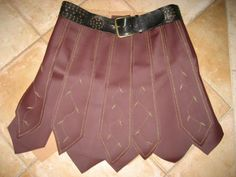 Xena - Skirt (Costume)_e_0qVA - via @Craftsy -   (This is a great base idea for other costumes! If you use your imagination, you could make a Roman Soldier skirting to use in your children's Ministry. could it also be used somehow for the Armor of God Costume?)