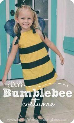 Un tutoriel très détaillé et facile à suivre pour faire taie-robe costume de bourdon de style d'une petite fille.  Un projet parfait pour les débutants!  au mois de mai
