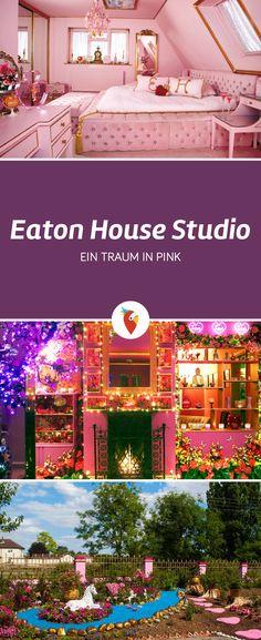 Diese Airbnb Unterkunft in Essex Großbritannien ist von innen und außen pink und eignet sich hervorragend als Hochzeitslocation - alle Infos via Urlaubspiraten.de