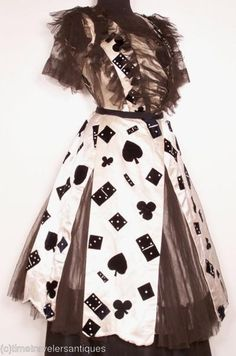 Game -themed masquerade dress from the early 1920s that was auctioned off on ebay a few years ago.