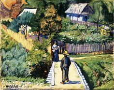 Huszár Vilmos: Kertben, 1906, olaj, vászon