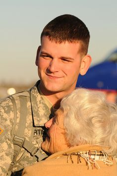Oregon Army National Guard Spc. Joshua Martin, grandma's personal hero
