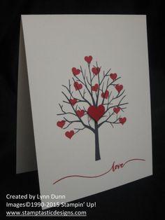 sheltering tree valentine Card Making Inspiration, Making Ideas, Diy Love, Karten Diy, Valentine Day Crafts, Homemade Valentines Day Cards, Valentine Theme, Origami, Handmade Greetings