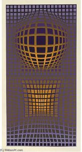Abstract Composition 10 - (Victor Vasarely)