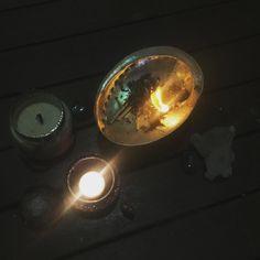 Burning limiting beliefs and invoking my intentions. And so it is. Accompanied by labradorite orgonite lotus Himalayan Quartz and my wild totem representing magic & instinct. #gutsygirlart #newmoon #newmoonritual #letitburn #goddess #priestess #sistersoulmedicine #wolftotem #labradorite #himalayanquartz #orgonite #newmooninaries #elemental #fireritual #ritual #sacredspace #instinct #magic #intuition #divinefeminine #crystals