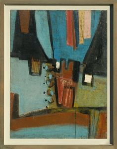 Sir Terry Frost BLUE FOR LUMBAR 1956