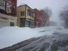 Main St in Bar Harbor, ME  Blizzard of 2015