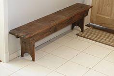 Century old barn board bench