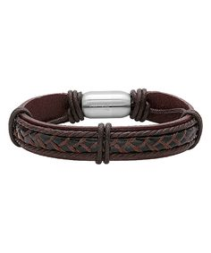 Another great find on #zulily! HMY Jewelry Brown Leather String Braided Bracelet by HMY Jewelry #zulilyfinds