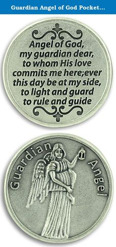 "Guardian Angel of God Pocket Token Charm Coin for Child Boy Girl 1.2"" with Prayer Catholic Christian. This beautifully detailed, large silver dollar-sized religious pocket token coin is made in Italy, and silver oxidized to last. An inexpensive gift that you, your friends, or your loved ones can carry in their purse or pocket and enjoy for years to come. Angel of God Guardian Angel with prayer - Angel of God, My Guardian Dear, to whom God's love commits me here. Forever this day be at my..."