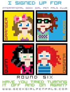 I signed up for Round Six of the International Geek Girl Pen Pals Club www.geekgirlpenpals.com