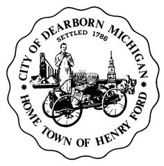 Seal of the City of Dearborn, Michigan, settled in 1786
