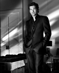 Patrick Dempsey, informally formal in all black. Man.