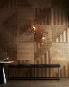 Decor, Sconces, Wall Design, Interior Design, Wood Accent Wall, Arteriors, Home, Interior, Wall Paneling