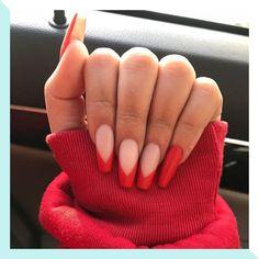 gel nails with tips & tips gel nails . tips gel nails at home . tips gel nails colored . tips gel nails ideas . gel nails with tips . gel nails ideas spring french tips . diy gel nails at home tips . wedding nails for bride gel french tips Polygel Nails, Nail Manicure, Cute Nails, Pretty Nails, Nail Polish, Coffin Nails, Glitter Nails, Toenails, Long Nails