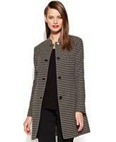 Anne Klein Textured Tweed Long Blazer