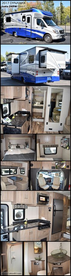 Enjoy heading out on your next journey in this Dynamax Isata 3 24RW Class C diesel motorhome. Built on the fuel efficient Mercedes Sprinter platform, full body paint, contemporary interiors and functional living space, paired with a high performance chassis create the perfect home on wheels.