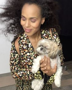 (@kerrywashington with the cutest fluff ever captured BTS by @jessicaradloff14)  via GLAMOUR MAGAZINE OFFICIAL INSTAGRAM - Celebrity  Fashion  Haute Couture  Advertising  Culture  Beauty  Editorial Photography  Magazine Covers  Supermodels  Runway Models