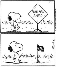 Flag Man Ahead