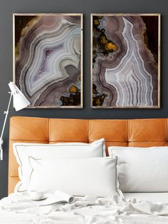 Set of 2 Agate Prints - Prints (Print #040 and 041)
