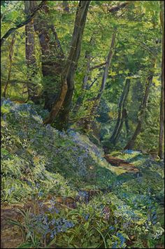 """John Ruskin's """"Rocks and Ferns in a Wood at Crossmount, Perthshire"""" (1847)"""