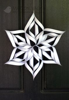 I've made this with my students and they loved it! Options: use two different colors, for small children use 1/6 of the snowflake as an ornament.