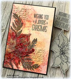 Kath's Blog......diary of the everyday life of a crafter: Simon Says - Focus On Alcohol Inks Stamped Christmas Cards, Beautiful Christmas Cards, Xmas Cards, Stampin Up Christmas, Holiday Cards, Christmas Crafts, Christmas Decorations, Greeting Cards, Advent