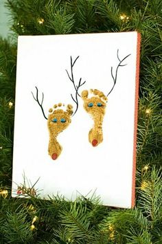 DIY Christmas Decorations - DIY Christmas Decor, DIY Holiday Decor, Homemade Ornaments and Handmade Stockings, Tree Decorating Ideas, Christmas Crafts & Decorating Ideas for Christmas and the Holiday Season. Happy Holidays and Merry Christmas! Winter Christmas, All Things Christmas, Christmas Holidays, Christmas Decorations, Christmas Ornaments, Reindeer Christmas, Christmas Canvas, Christmas Ideas, Reindeer Craft