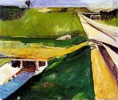 RICHARD DIEBENKORN - FREEWAY WITH AQUADUCT. I LIKE THE COMPOSITION.