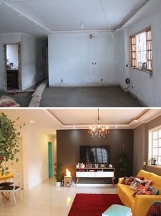 ⚜️ Antes y después / Decor ideas . Apartment Interior, Apartment Interior Design, Living Room Makeover, Home Decor, House Interior, Home Deco, Remodel Bedroom, Interior Design, Interior Decorating Styles