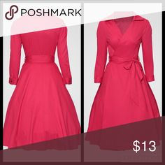 Bowknot Plain Skater Dress Blended Material. Embellishment: Bowknot. Occasion: Office/Formal. Dresses
