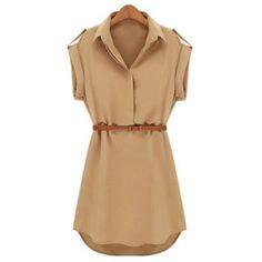 Camiseta de manga corta de color sólido casual de vestir de las mujeres embellecidas Eqaulets para Vender - La Tienda En Online IGOGO.ES