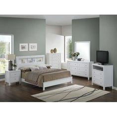 Schlafzimmer mit Bett 140 x 200 + Nako und Kommode Parisot Galaxy ...