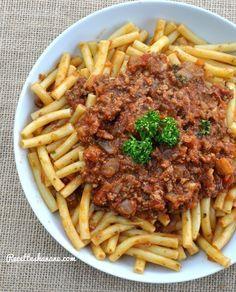 Macaronis à la Bolognaise