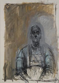 Discover the artwork - Alberto Giacometti - Biography of an Œuvre Alberto Giacometti, Giacometti Paintings, Figure Painting, Painting & Drawing, Louisiana Museum, Figurative Kunst, Tate Gallery, Statues, Ouvrages D'art