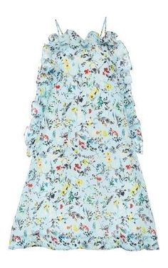Silk printed sleeveless dress with ruffle detail by MSGM Available Now on Moda Operandi