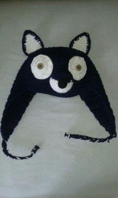 Gorro zorro a crochet