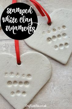 DIY Stamped White Clay Ornaments - Crafts on Sea