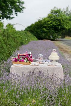 Lavender Inspiration Shoot by Kate Robinson